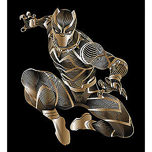 Details about Sticker - Marvel - Black Panther - Crouch 4