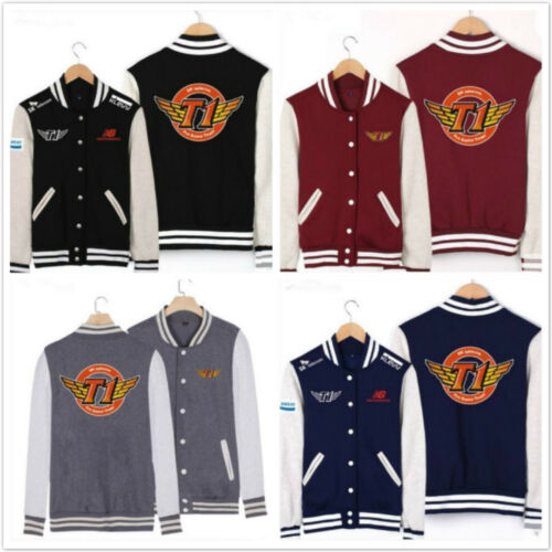 Fashion League of Legends LOL S6 skt t1 Final Baseball Uniform Sweater Coat