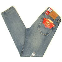 Levis 501 Ct Jeans Mens Button Fly Size 32 X 34 Blue Faded Distressed Tapered on sale