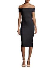 $890 LA PETITE ROBE DI CHIARA BONI  MALIBU ERG BLACK DRESS NWT SZ 14/50