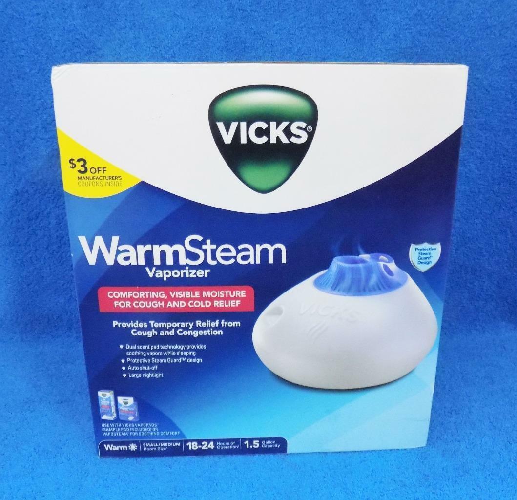 Vicks 1.5 Gallon Warm Steam Vaporizer with Night Light Model V150SGNL New  for sale online