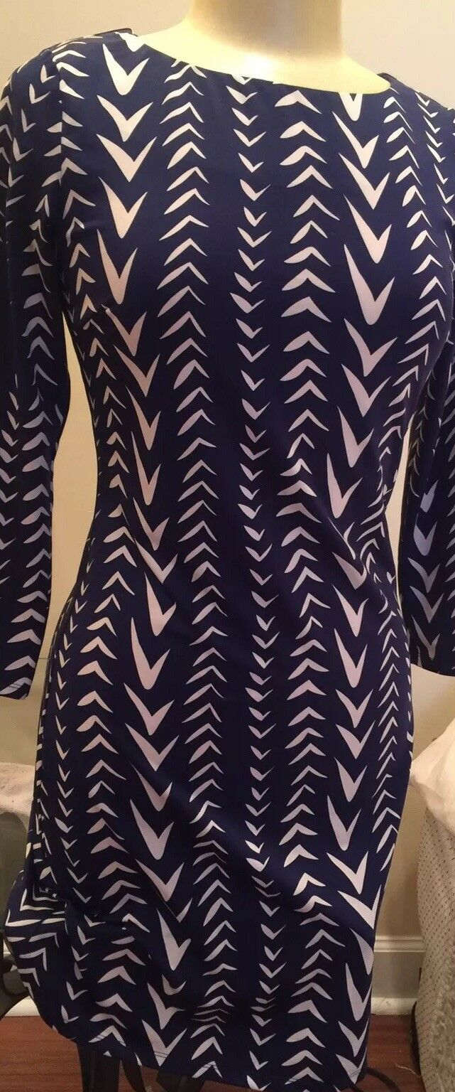 New With Tags JULIE BROWN goldie Navy Brandt Lake Poly Jersey Dress size XL