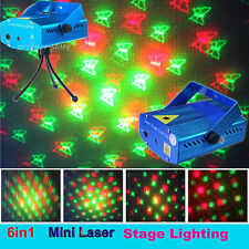6 in 1 R&G LED Christmas Laser Light Projector Proiettore for DJ Xmas Show Party
