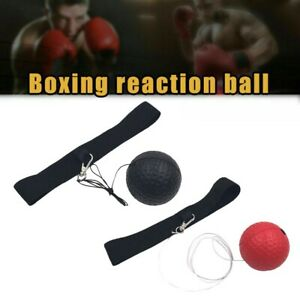 Fight Ball Reflex Boxing Trainer Training Boxer Speed Punch Head Cap String PU