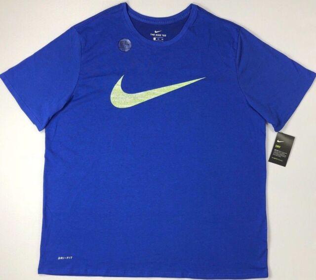 1f583cff Nike Mens Short Sleeve Graphic Swoosh T Shirt Tee Blue Dri-fit 2xlt Big Tall