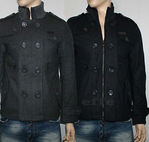 timeless design 305fb d5b5f Dettagli su Cappotto uomo doppio petto Giubbotto lana Y.TWO taglia M L XL  XXL