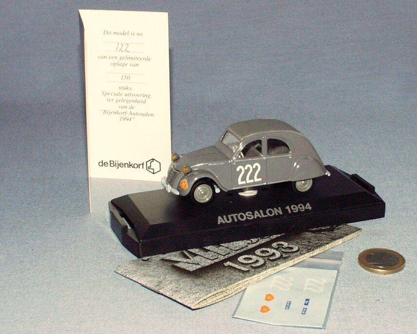 Speed bijenkord 1 43 salon de l' auto 1994  citroen 2cv rally tulip 1956