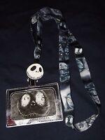 The Nightmare Before Christmas Jack Sally Hill Lanyard Id Card Pin Holder Disney