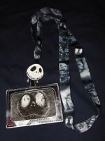 The Nightmare Before Christmas Jack Sally Hill Lanyard Id Card Pin Holder Disney