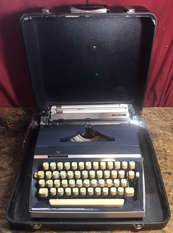 Vintage German Made Adler J5 Portable Typewriter