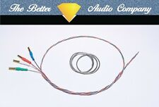 """Discovery Wire 9"""" Tonearm Rewire Kit.Ready Fitted Cartridge Tags, Cardas Solder"""