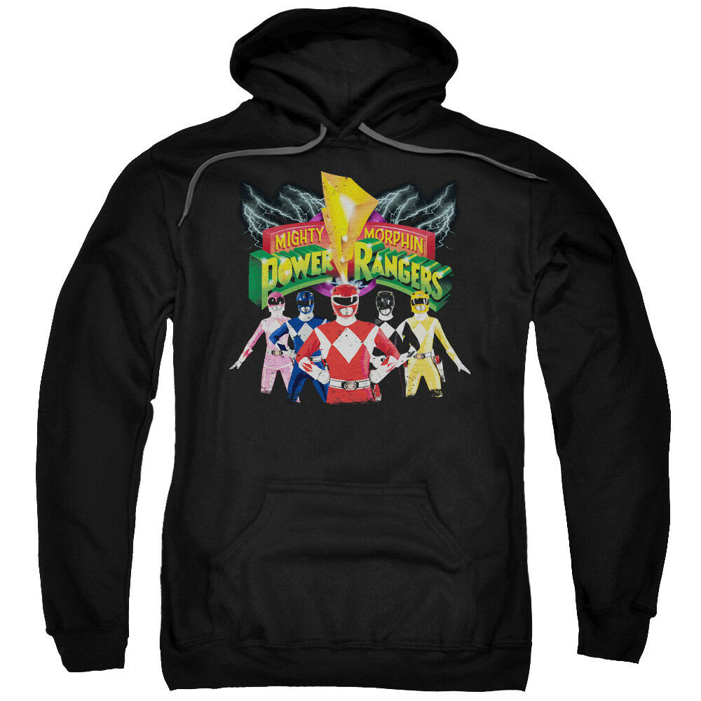 Mighty Morphin Power Rangers RANGERS UNITE Licensed Adult Sweatshirt Hoodie
