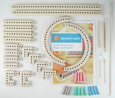 Craft Yarn 5000-100 Multi-function Knitting Board Knit & Weave Loom Kit DIY Tool