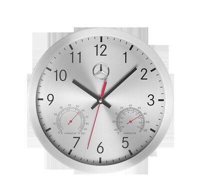 Mercedes Benz Véritable Horloge Murale Quartz Aluminium