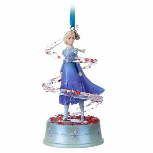 Disney Authentic Frozen 2 Elsa Singing Christmas Ornament Sketchbook Figure New
