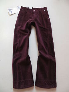 Levi-039-s-006-engineered-Cord-Jeans-Hose-W-26-L-30-rotbraun-034-Verdreht-034-NEU