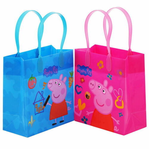 12 PCS Peppa Pig Goodie Party Favor Gift Birthday Loot Bags Licensed Small