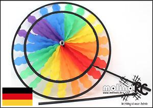 Wunderschoenes-Windrad-Rainbow-Windspiel-Windmuehle-wetterfest-stabil-BRD