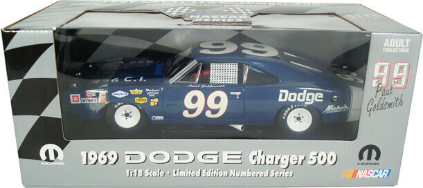 1 18 ERTL 1969 Dodge Charger 500-Paul orosmith  99 Limited Winged Warriors