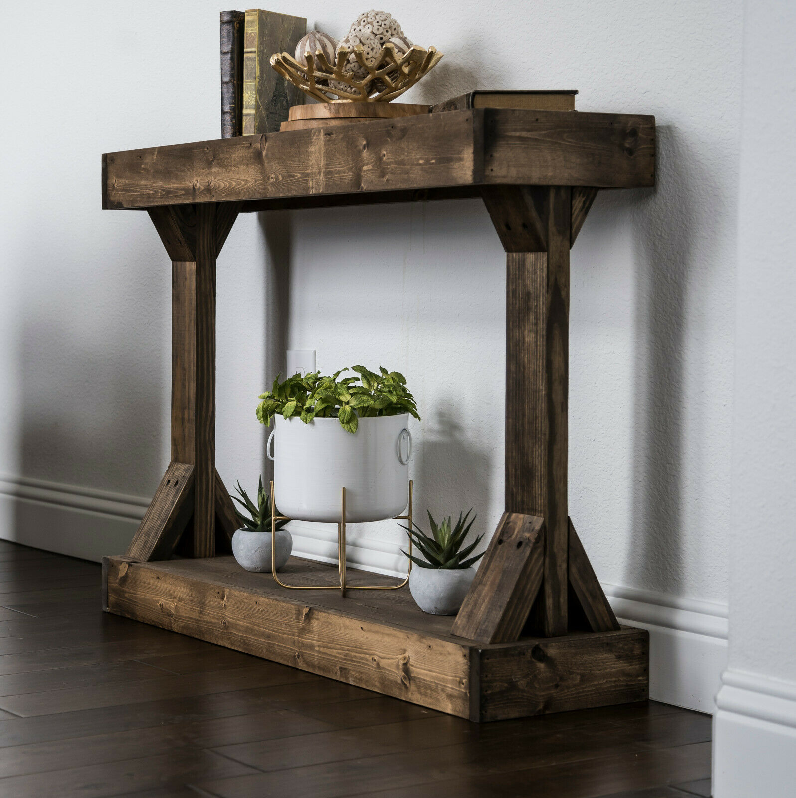 Rustic Coffee Table Aged Barn Wood Large Storage Shelves Sliding Door Organizer For Sale Online Ebay