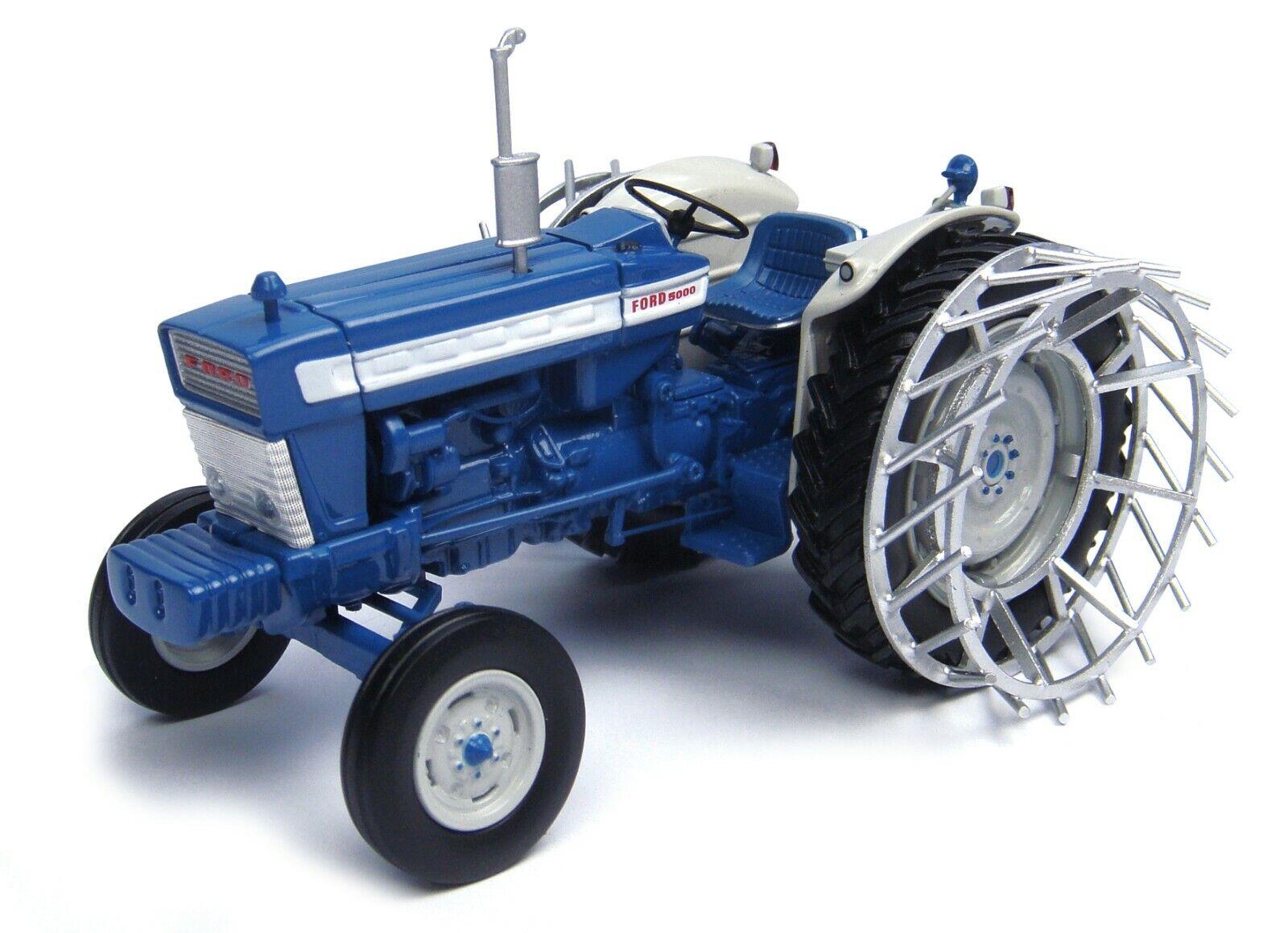FORD 5000 avec Cage roues tracteur Limited Ed 1 32 moulé sous pression par Universal Hobbies UH4879