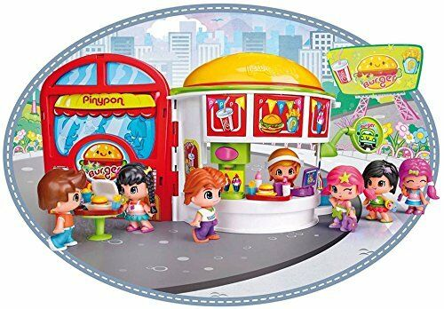 Pinypon Restaurant Burger Includes a Figure of the the the Waitress Pin y Pon 45068b