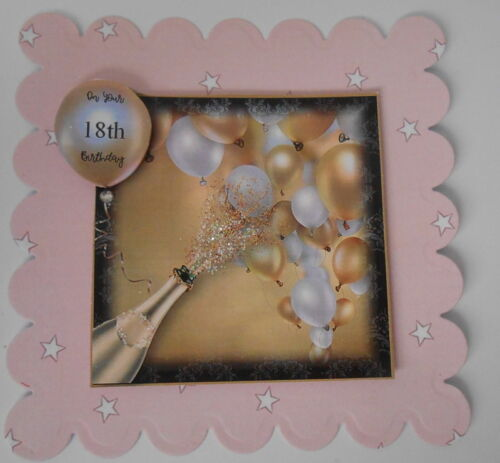 PK 2 LETS CELEBRATE ON YOUR18TH BIRTHDAY TOPPER EMBELLISHMENT FOR CARDS /& CRAFTS