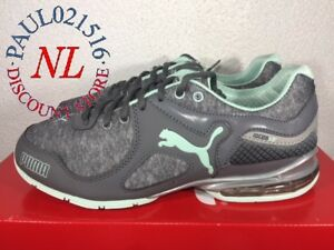Puma Women s Cell Riaze Athletic Running Lace Up Shoes ~ Gray ... 9ce8e1379