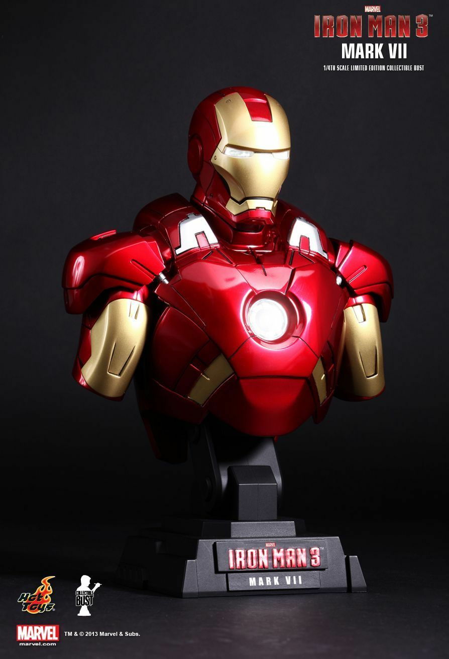 Hot Toys Iron Man 3 Mark VII 1 4TH Scale Limited Edition Collectible Bust HTB11