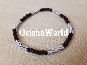 Stretch-Elastic-Pulsera-de-Babalu-Aye-San-Lazaro-Santeria-bracelet-Ilde-Ide-Idde