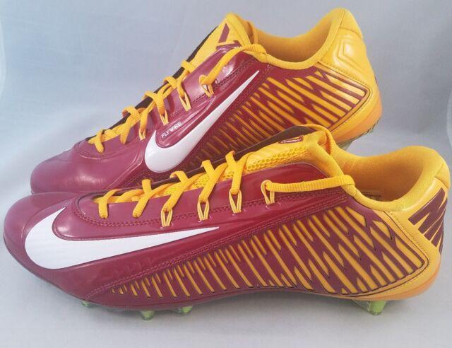 5e118df90726 Nike Vapor Carbon Elite 2.0 TD Football Cleats Men's Size 15 Burgundy Gold  SKINS