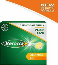 Berocca Vitamin C Effervescent Tablets - Orange Flavour - 1 Pack of 90 Tablets