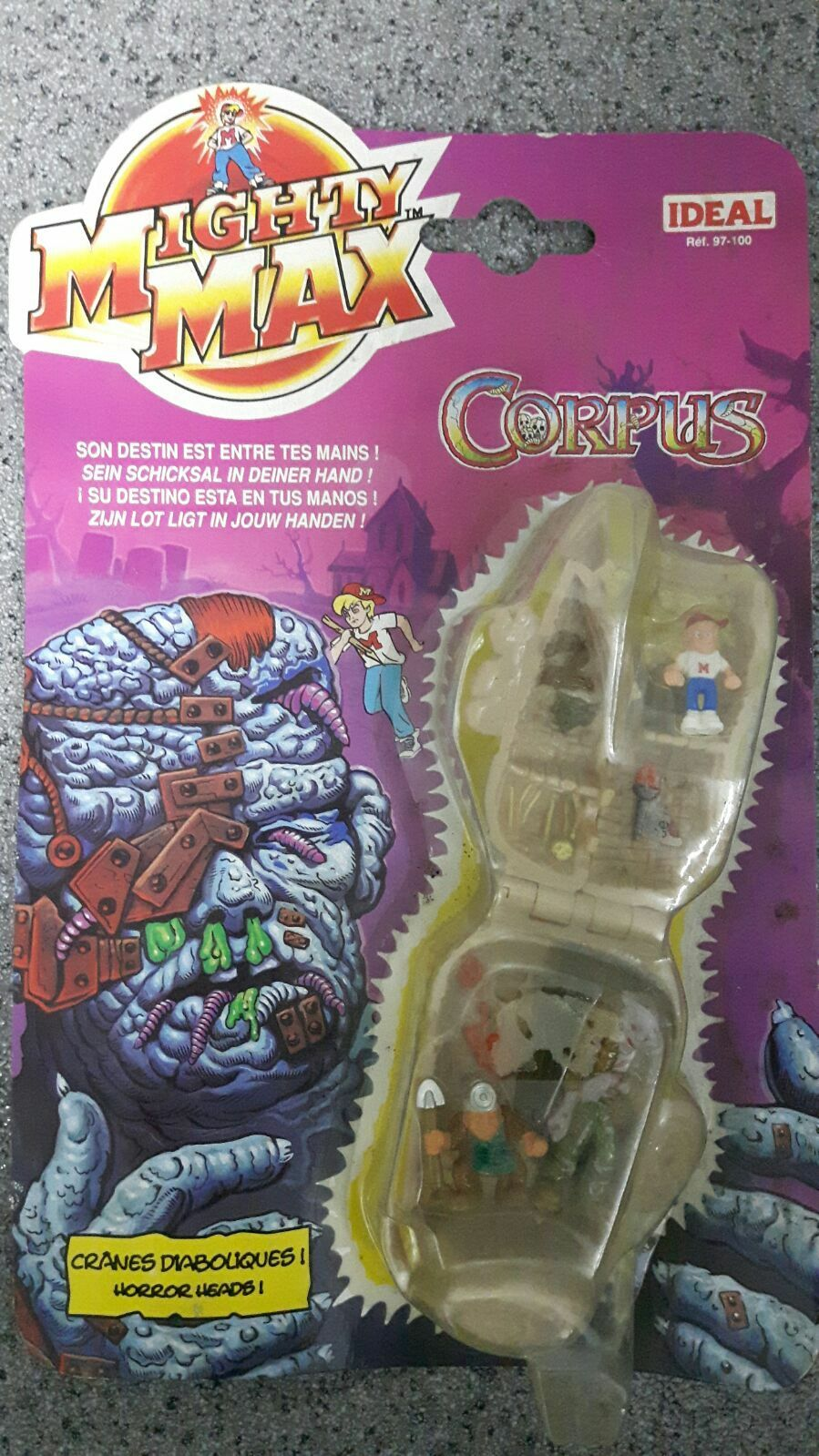 Mighty Max Corpus New Sealed Horror Heads