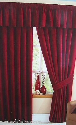 NEW STAMFORD HEAVY THICK PLAIN SLUB CHENILLE PENCIL PLEAT CURTAINS FULLY LINED