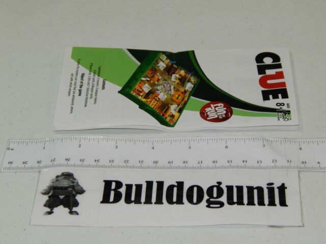 2010 Grab Go Clue Board Game Replacement Instructions Only Hasbro