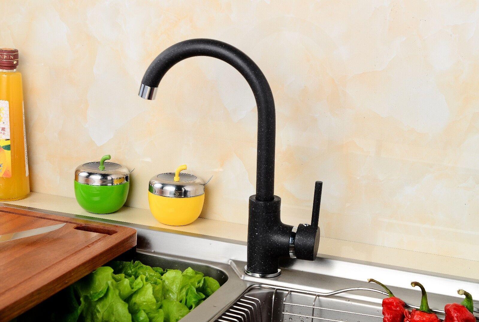 Moderne Granit Küchen Armatur Einhandmischer Wasserhahn schwenkbar in Schwarz | Tragen-wider  | Outlet Online  | Qualitativ Hochwertiges Produkt  | Online-Exportgeschäft