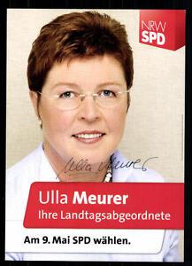 Politik Ulla Meurer Autogrammkarte Original Signiert ## 37412 äSthetisches Aussehen