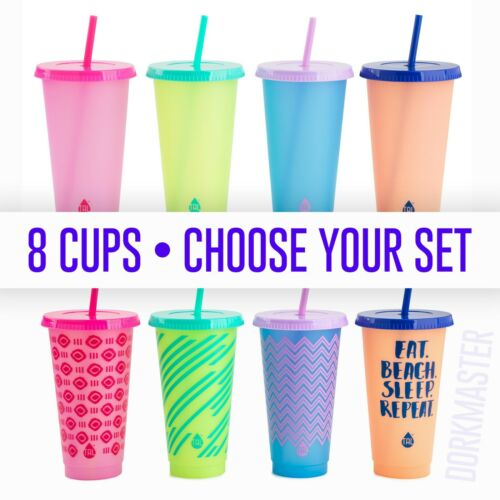 8 TAL Reusable Color Changing Cups 24z Set Assorted Colors NWT CHOOSE YOUR SET