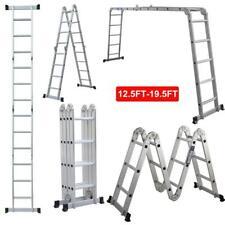 New 125195ft Folding Step Ladder Multi Purpose Aluminium Extension Heavy Duty