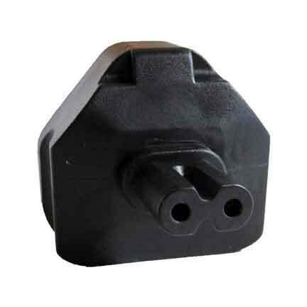 UK fused 3 prong plug to C7 2 prong receptacle Power Plug Adapter