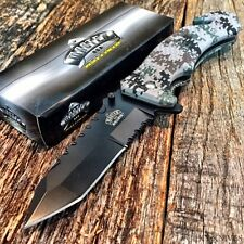 MASTER BALLISTIC TACTICAL Spring Assisted Open RESCUE Pocket Knife Tanto D Camo!