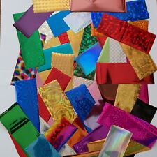 50 x Nail Art Wrap Foils Transfer Glitter Sticker Polish Decal Decoration UK