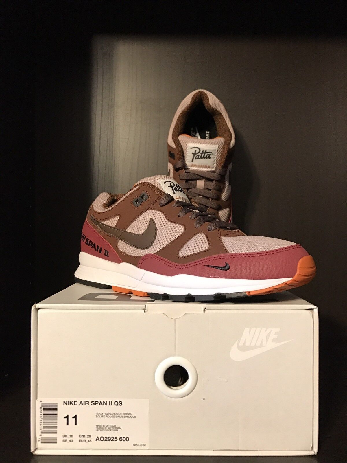 UNRELEASED Patta x Nike Air Span 2 QS   Quickstrike - Size 11 - RARE