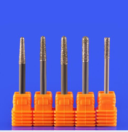 Details about  /10PC 4mm x 30Degree x 4mm Grinding Bit Diamond Mounted Point Jade Carving Tool