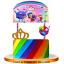 TRUE-RAINBOW-KINGDOM-CUPS-CAKE-TOPPER-CUPCAKE-decoration-supplies-party-balloon thumbnail 15