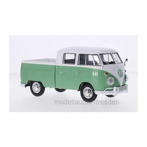 Motormax 79343 Volkswagen Type 2 Doppelkabine weiss//grün Maßstab 1:24 NEU!° T1