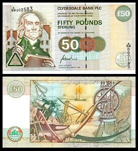 Scotland-Clydesdale-Bank-50-pounds-1996-P-225a-Bank-Note
