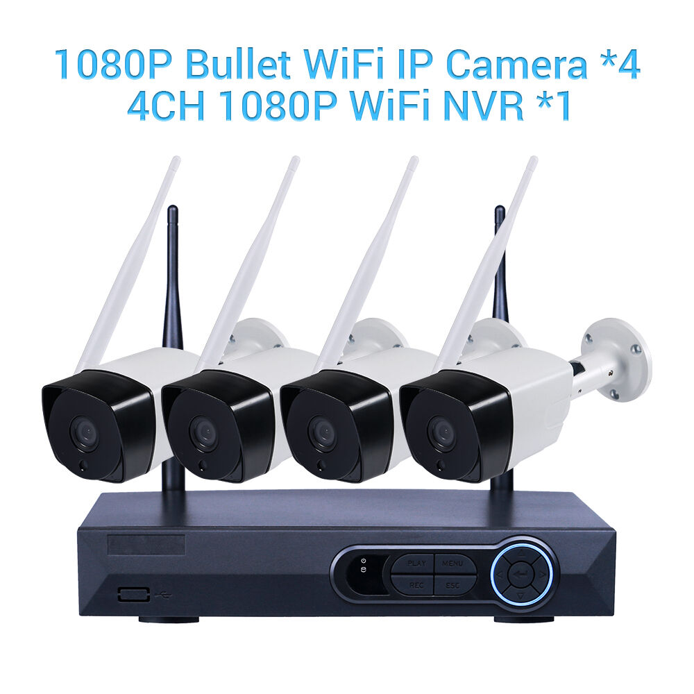 Outdoor Security Home IP Camera WiFi Wireless 1080P HD 4CH NVR Kits CCTV System 1
