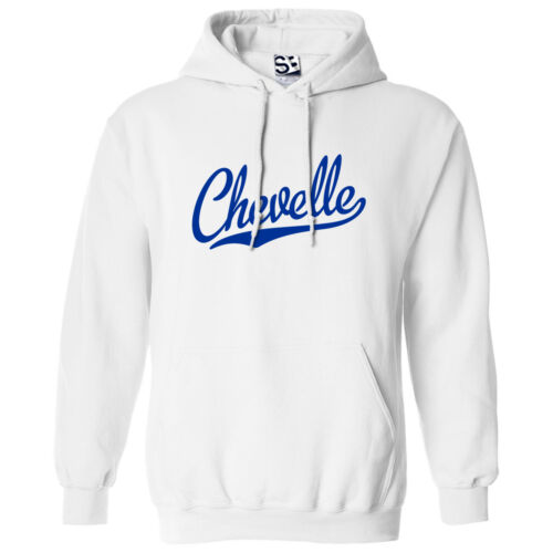 Hooded Muscle Car SS Sweatshirt w All Colors Chevelle Script /& Tail HOODIE
