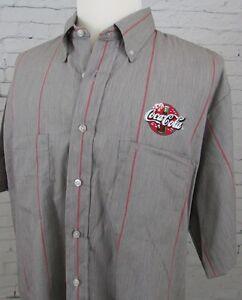 Men's Coca-Cola Coke Uniform Button Down Employee Shirt Size 18.5-01